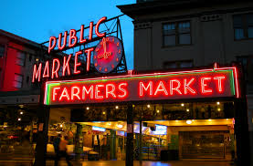 pikes place farmers market seattle